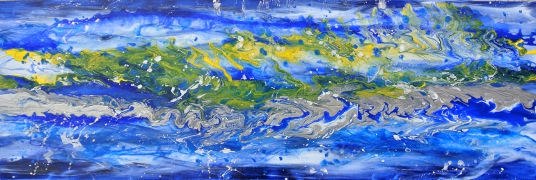 """""""Surrendering into the Dance with Spirit"""" ~ 20"""" x 60"""" $1,200."""